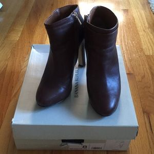 Banana Republic Leather Brown Belted High Booties